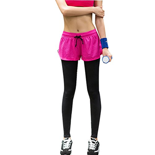Zhhlaixing Fashion Women Casual Trousers Fitness Workout Yoga Leggings Pants JFK19 red