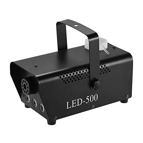 ammoon Bunte 400 Watt Fogger Nebel Nebelmaschine mit LED-Farben-Licht (rot, blau, grün) Wired Remote Control für Party Live-Konzert DJ Bar KTV Stadiums-Effekt