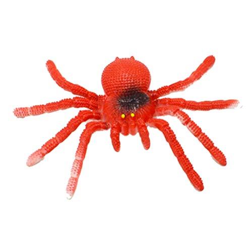Lifet Lange Zähne Scary Spinne Halloween Party Requisiten Dekoration Horror Witz Spielzeug (rot)