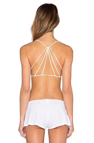Mishva white Hot Sexy Bralette Pyramid Style Full Coverage Everyday Padded Bra (Removable Pad)  available at amazon for Rs.289