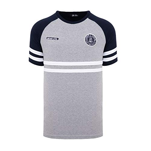Unfair Athletics DMWU T-Shirt Grey/Navy (S) - Athletic Track-t-shirt