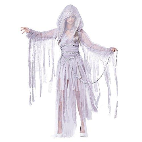Cosfun Damen Vampir Halloween Kostüm Königinkleid Ghost Braut Kleid Götter cosplay Hexe Zombie Kostüm ohne (Design Zombie Kostüme)