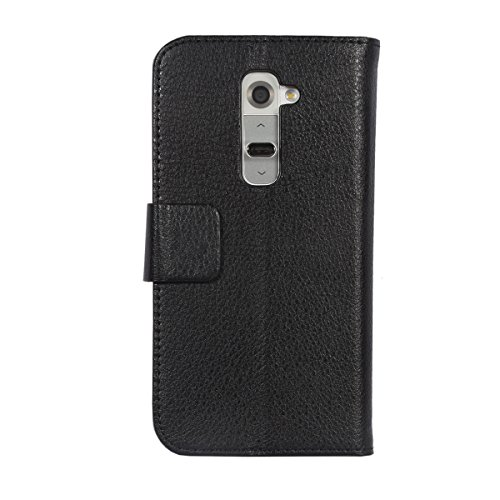 LG G2 Case, SPARKLE Wallet Case Premium [Heavy Duty Protection] Protective Stand Flip Cover Case for LG G2 (Black)