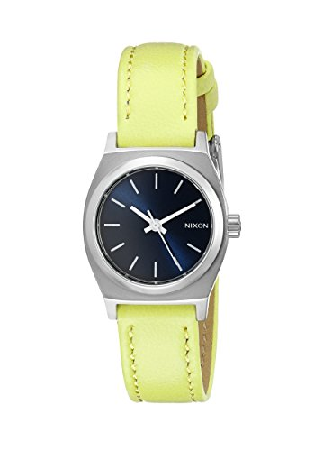 Nixon Women's A5092080 Small Time-Teller Leather Analog Display Quartz Watch