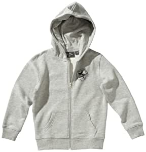 Converse Scribbled CT Patch Zipped HD Boys' Hooded Jacket grey melange Size:140