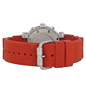 Nautec No Limit Deep Sea Professional DS-P QZ2/RBSTSTRD - Reloj para hombres, correa de goma color rojo marca Nautec No Limit