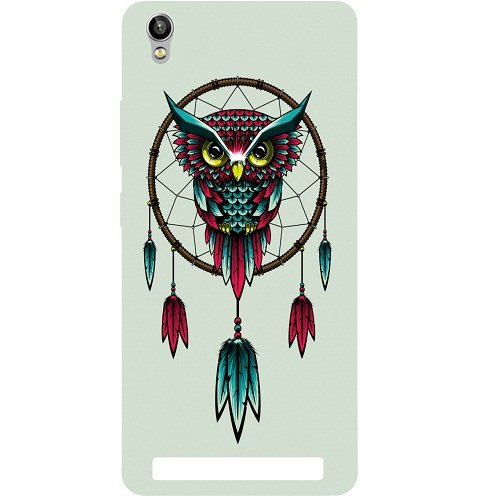 Casotec Owl Bird Dream Catcher Pattern Design Hard Back Case Cover for Intex Aqua Power Plus  available at amazon for Rs.149
