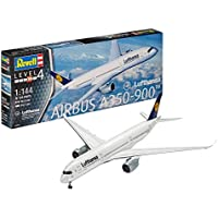 Revell Modellbausatz Flugzeug 1:144 - Airbus A350-900 Lufthansa im Maßstab 1:144, Level 4, originalgetreue Nachbildung mit vielen Details, Zivilflugzeug, Passagierflugzeug, 03938