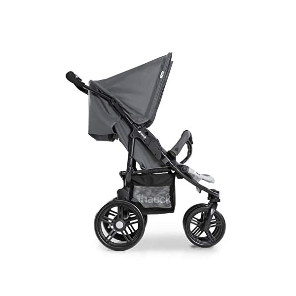 Hauck Roadster Duo SLX Double Pushchair, Grey/Silver, 14 kg Hauck Twin and sibling stroller suitable for two children or new-borns by combining it with the separately available hauck 2 in 1 carrycot, this pushchair holds 2 x 15 kg Fits through doors despite the children sitting side by side, roadster duo slx fits through doors and elevators as it measures 76 cm only Comfy both backrest and footrest come with sun hood, as well as large shopping baskets and are individually adjustable up to lying position; the pushchair is easy to fold away with one hand 11