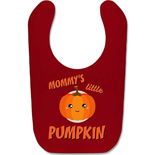 Shirtracer Anlässe Baby - Mommys little Pumpkin Halloween - Unisize - Rot - BZ12 - Baby Lätzchen Baumwolle (Halloween Kostüme Ideen Für Kids 2019)