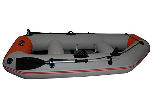 Prowake Schlauchboot IBP200: 200 cm lang mit Lattenboden - ideal für 1-2 Personen -orange/grau