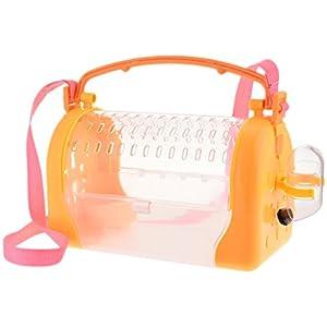 Portable Hamster Carrier Cage mit Riemen Tragbare atmungsaktive Outdoor Carrier Box für Hamster, Ratte, Frettchen, Igel ... Kleine Tiere