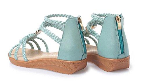 Xia Jiping avec des sandales Mme chaussures à semelle souple étudiant days blue