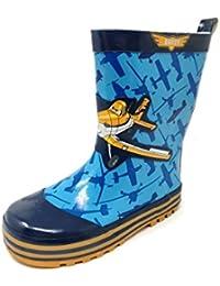 Childrens Kids Boys Girls Digger Wellies Wellington Rain Snow Boots Size 8-2