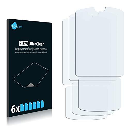 Savvies Schutzfolie kompatibel mit Motorola Razr V3xx (6 Stück) - ultraklare Bildschirmschutz-Folie