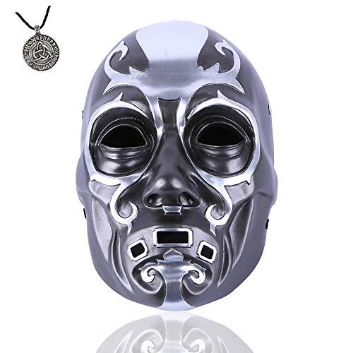 ZYER Máscara de Anime Máscara de Fiesta de Cosplay Bauta Máscara de Tema de Película de Disfraces de Halloween Máscara de Calavera de Resina Death Eater