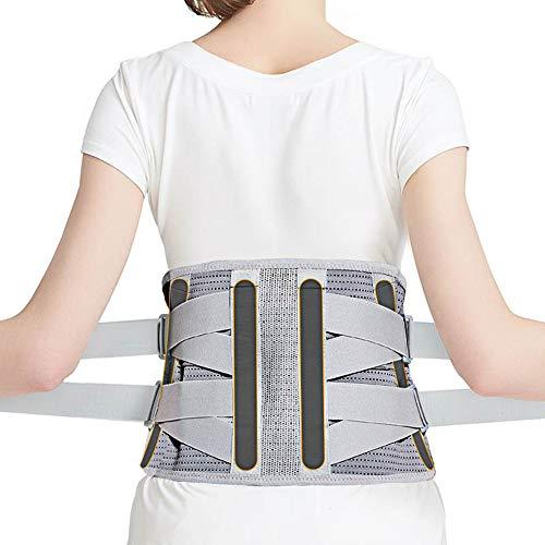 GRX-RANE Lordosenstütze Gürtel Verstellbare Lordosenstütze,Magnetfeldtherapie,Stahlplattenunterstützung,Protector Rückenschmerzen Relief Sport Gürtel für Frauen Männer,M -