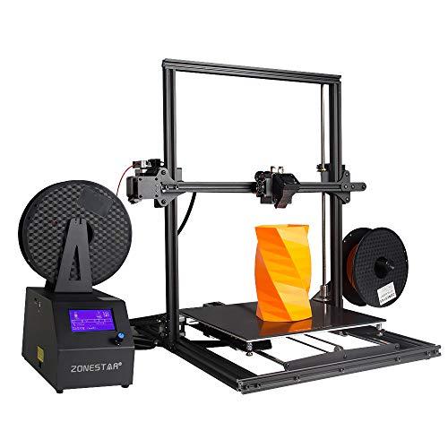 Zmm stampante 3d con mix-stampa a colori, disegno doppio estrusore, 3d desktop acrilico schermo lcd ad alta precisione desktop 3d kit stampante dimensioni di stampa 300 * 300 * 400mm