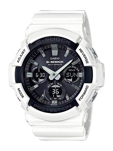 Casio G-Shock Analog-Digital Herrenarmbanduhr GAW-100B weiß, Solar und Funkuhr, 20 BAR