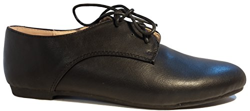 Schlicht-elegante Halbschuhe in Lederoptik, schwarz, Schnürschuhe, Größe 39; Damenschuhe, Modell 11094108001025, Schuh für Damen, in topmodischem Look, hier: Schwarz.