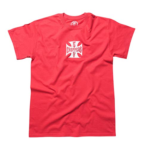 WEST COAST CHOPPERS Herren T-Shirt Cross ATX Red/White, Größe:M, Farbe:red/White (Harley Garage Shirt)