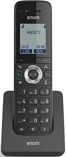 Snom Singlecell M15 (Up To 7 Days Battery Life In Stand-by And 7 Hours Talk Time, Voicemail LED Notification Light, GAP Compatible) Black Dect 60 Cordless Telefon
