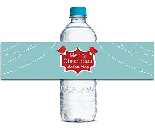 Kundenspezifische Wasserflasche Etikett Weihnachten Partei Thema Wasserdicht Aufkleber 8