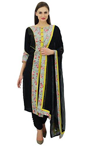Atasi Retro Style Straight Front Slite Cotton Salwar Kameez Suit Dupatta Set Dupatta Set