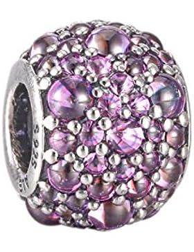 Pandora Damen-Charm Glitzernde Tröpfchen 925 Silber Zirkonia lila-791755CFP