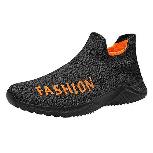 HDUFGJ Herren Damen Sneaker Atmungsaktiv Socken Schuhe Laufschuhe Mode Outdoor-Schuhe Freizeitschuhe Bequem Leichtgewicht Faule Schuhe Turnschuhe Fitnessschuhe Flache Schuhe Clogs36 EU(Orange)