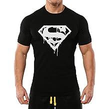 New Unisex Superman T Shirt Top Gym Bodybuilding Man Of Steel Workout Training Boxen