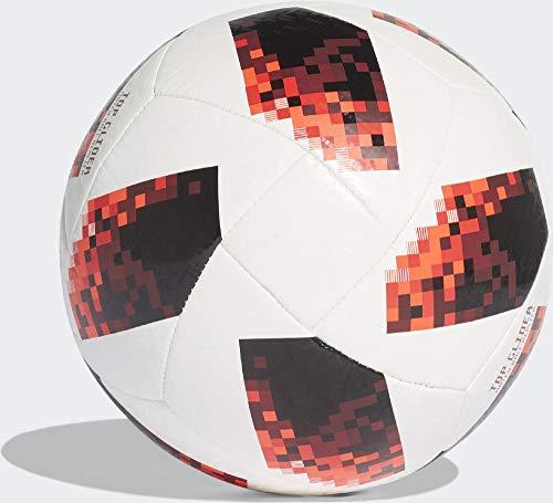 adidas Herren FIFA Fussball-Weltmeisterschaft Knockout Top Glider Ball White/Solred/Black, 5 (5 Adidas Fußball Größe)