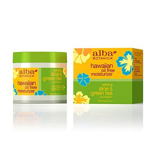 Tea Oil Free Moisturizer (Alba Botanica 0390138 Hawaiian Aloe und Green Tea Moisturizer Oil-Free - 3 Unzen)