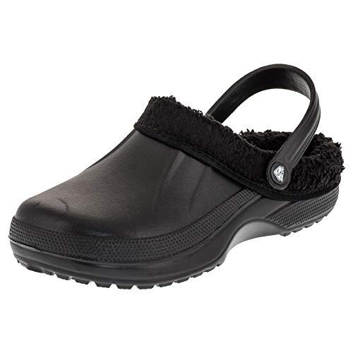 2Surf Gefütterte Herren Clogs Garten Winter Schuhe Pantoffel in vielen Farben M484sw Schwarz 43 EU
