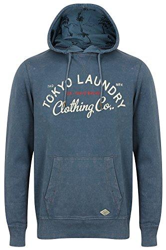 Tokyo Laundry Herren Jumper Kapuzenpullover, Einfarbig blau blau Small Vintage Indigo - Blue