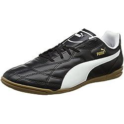 Puma Classico It, Botas de Fútbol para Hombre, Negro (Black-White-Puma Gold 01), 42 EU