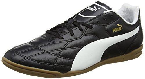 Puma Men's Classico IT Black, White and Puma Gold Football Boots - 7 UK