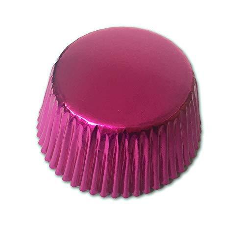 Rose Folie Metallic Muffin Cupcake Liners Papier Fall Backförmchen 500PCS, Standard Größe (Rose Papier-backförmchen)