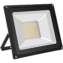 Foco proyector LED 100W ,7000LM ,220V ,IP65 Impermeable, Blanco cálido 2800K-3500 Lámparas Proyector Led Exterior para Jardín, Patio, Terraza, Garaje, Camino de Entrada, Escaleras