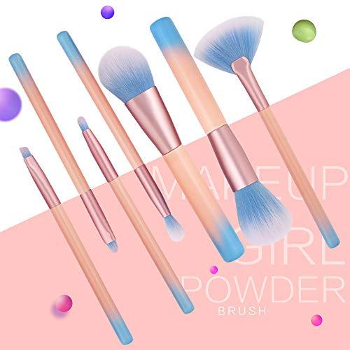 Make-up-Pinsel, Baumwoll-Blush-Pinsel mit Griff COS kosmetische flüssige Foundation-Creme...