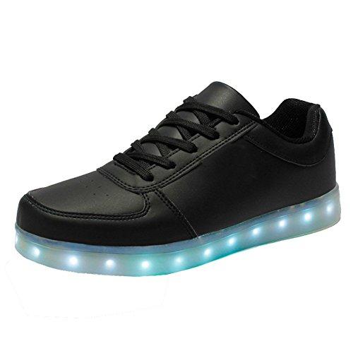 ELEAR® Unisex-Erwachsene Unisex Herren Damen 7 Farbe LED Leuchtend Sport Schuhe Glow Sneakers USB Aufladen Turnschuhe für Tanzen Party Rollbrett