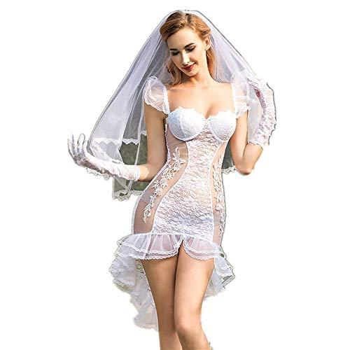 GUANGHEYUAN-J Sexy Kostüme für Frauen Mädchen Sexy Dessous Extreme Braut Rennen Sexy Pyjamas Perspektive Versuchung Sexy Unterwäsche Sexy Extreme Freie Größe Flirt Kostüm (Size : Free Size) (Flirt Kostüm)