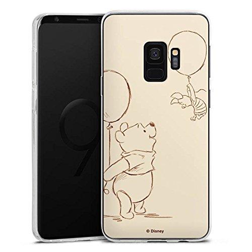 Silikon Hülle kompatibel mit Samsung Galaxy S9 Case Schutzhülle Disney Winnie Puuh und Ferkel Merchandise Fanartikel