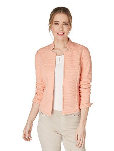 Bonita Damen Blazer mit Strukturierter Optik 40 Coral Pink
