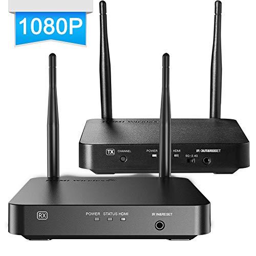 ANNKE 1080P HDMI Extender Wireless 1080P Transmitter bis zu 328Ft / 100m IR Remoto IR Fernsteuerung mit Sender und Empfänger Wireless HDMI Verstärker 2.4G / 5G -