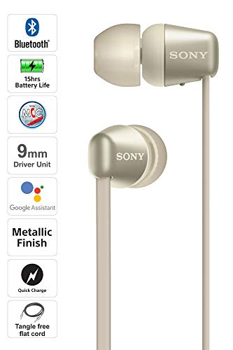 Sony WH-C310 Wireless Bluetooth Headphones (Gold)
