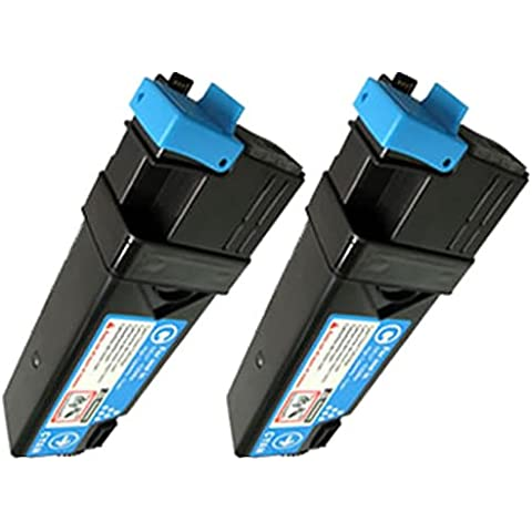 Doitwiser ® Xerox Phaser 6125 6125N Tóner Cyan Compatible - 106R01332 (2 Pack)