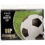 Einladungsset Geburtstag Fussball Lets Kick it 8er Set 12x22,5x1,2cm