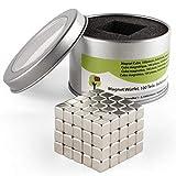 OfficeTree® 100 Mini Neodym-Magnet-Würfel 5x5x5 mm - extra-stark für Whiteboard Magnet-Tafel Pinnwand Kühlschrank - Premium-Qualität