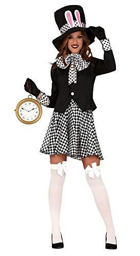 shoperama Verrückter Hutmacher Damen-Kostüm 4-TLG. Alice Im Wunderland Märzhase Weißes Kaninchen, Größe:L (Alice Und Das Wunderland Kaninchen Kostüm)